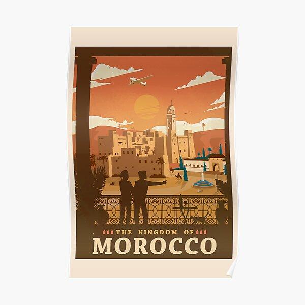 Maroc - Affiche de voyage rétro | Art Vintage Poster