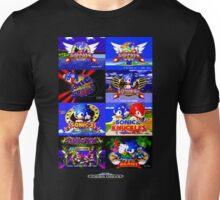 Sonic Mega Drive Title Screens (Europe Logo) Unisex T-Shirt