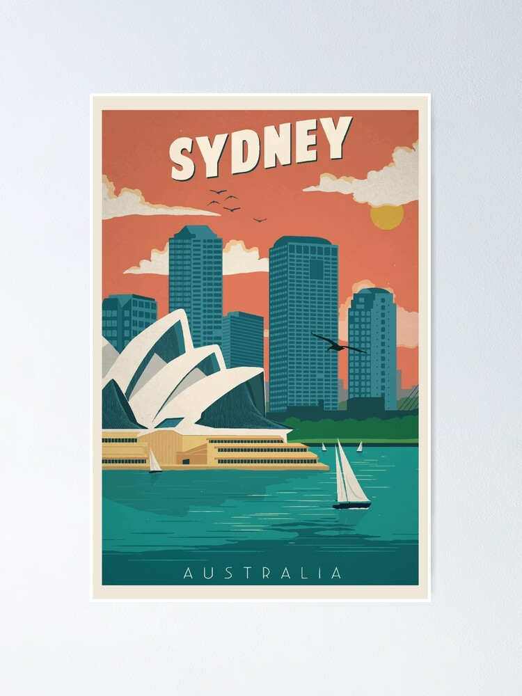 Alternate view of Sydney - Retro Travel Poster | Vintage Art Poster