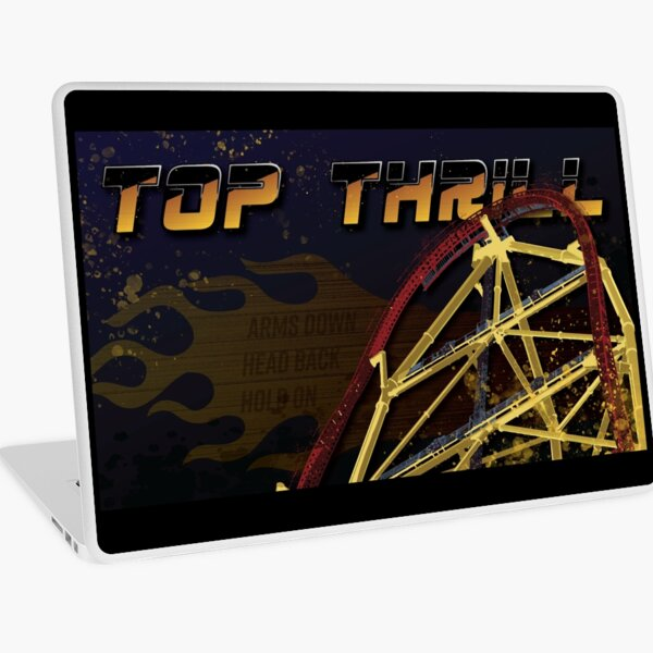 Top Thrill Flame Laptop Skin