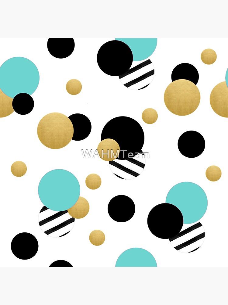 Aqua, Black and Gold Polka Dot Design by WAHMTeam