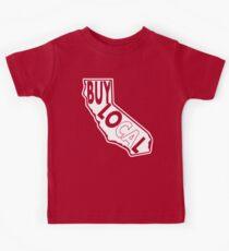 Buy Local California White print Kids T-Shirt