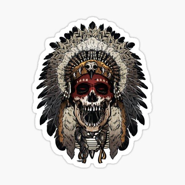 Indian skull face Sticker