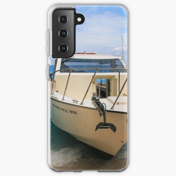 Boat ashore in Zante Samsung Galaxy Soft Case