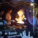 The fire of Komodo by Alfredo Estrella