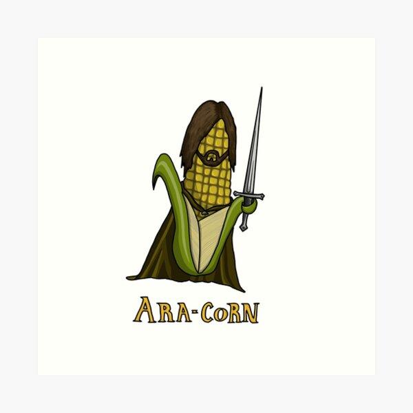 Ara-corn Art Print