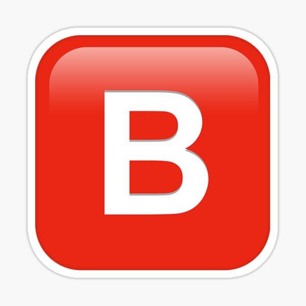 B Emoji Sticker