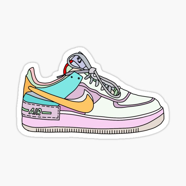 Pastel Air Force One Sticker