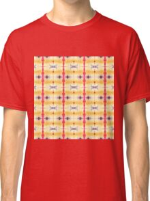 orange and red stripes w/ purple dots Classic T-Shirt