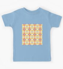 orange and red stripes w/ purple dots Kids Tee