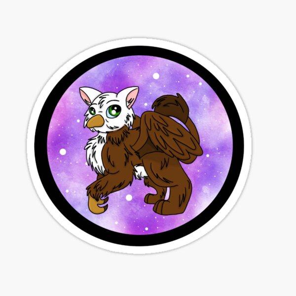 Galaxy Griffin on Black Sticker