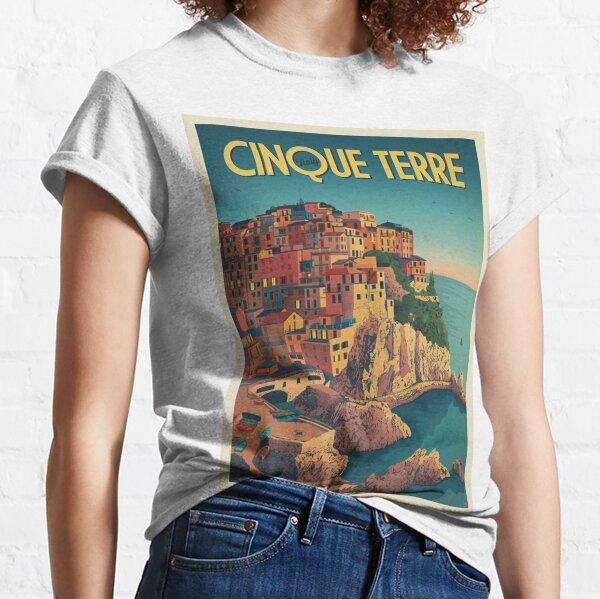 Cinque Terre Italy Framed Art Print Classic T-Shirt