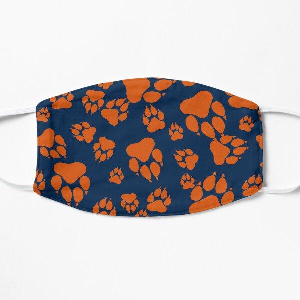 Blue and Orange Colors Tiger Claws Pattern Digital Design Mask
