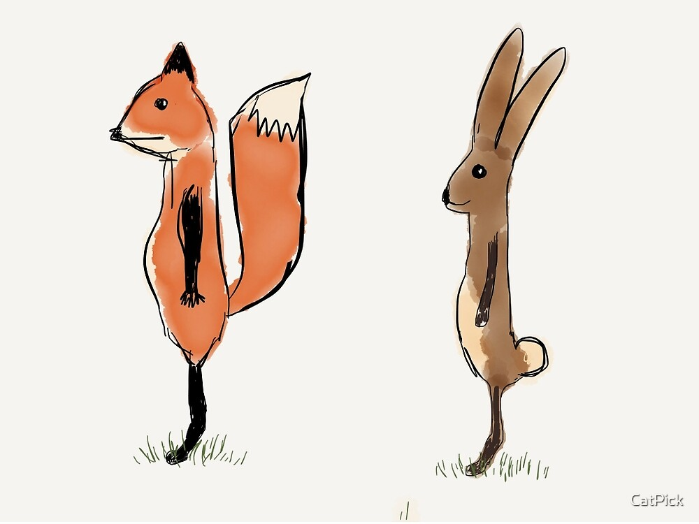 Fox and Hare by CatPick