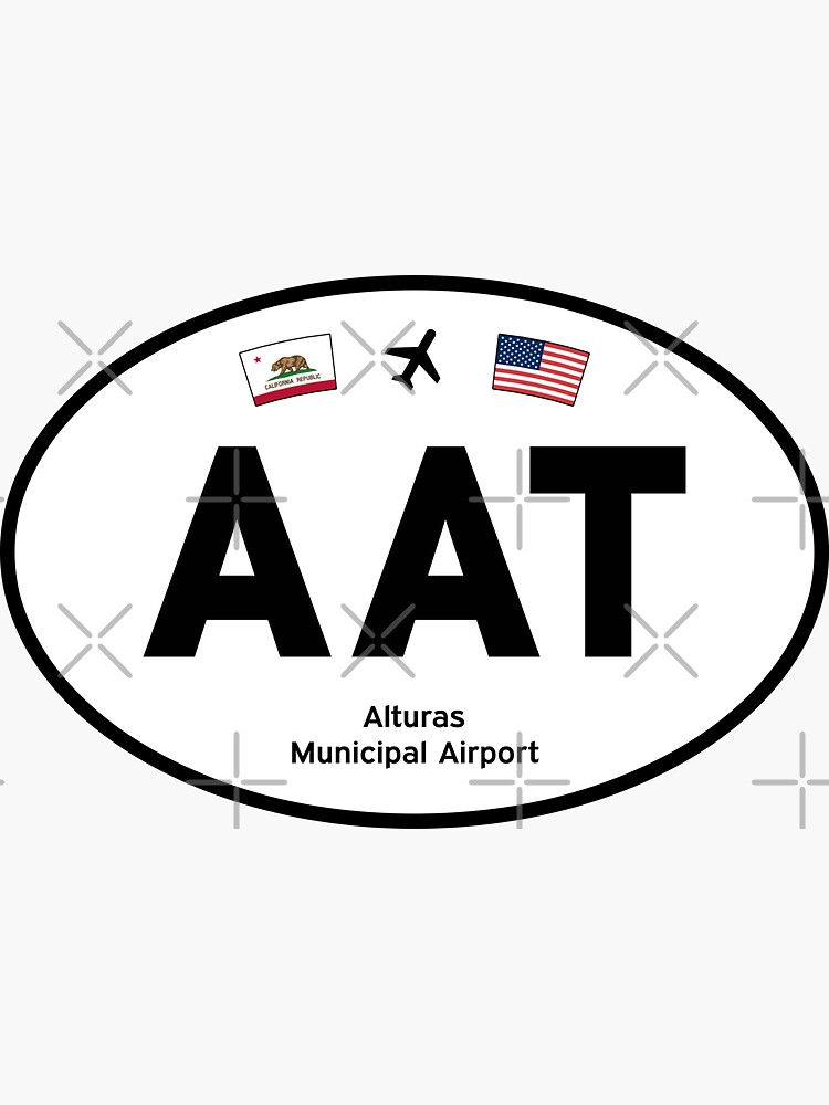 AAT, Alturas Municipal Airport (Alturas, California CA) — Oval Decal by airports