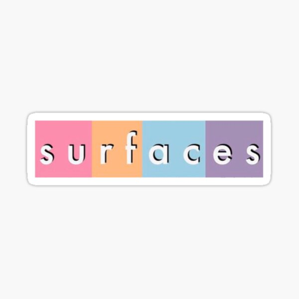 colorful surfaces Sticker