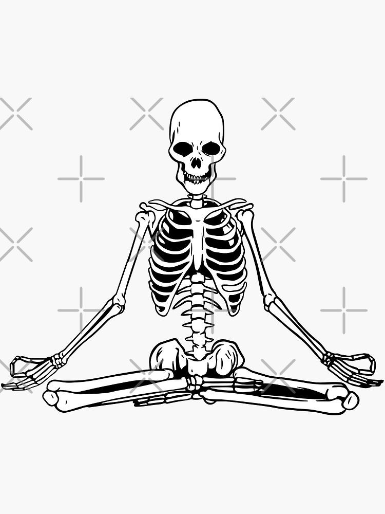 Yoga meditating skeleton by SebastianKraine