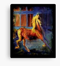 Whirl About (BlackBorder) Canvas Print