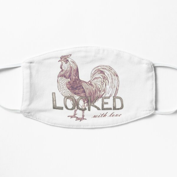 Locked cock, with love Flat Mask