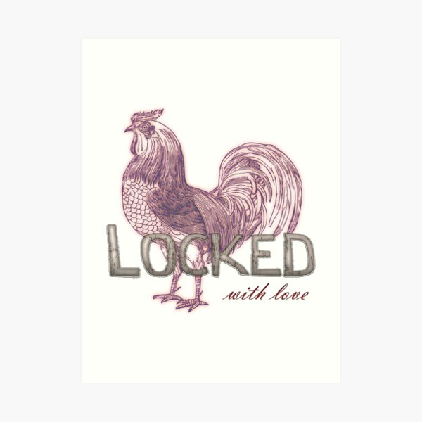 Locked cock, with love Art Print