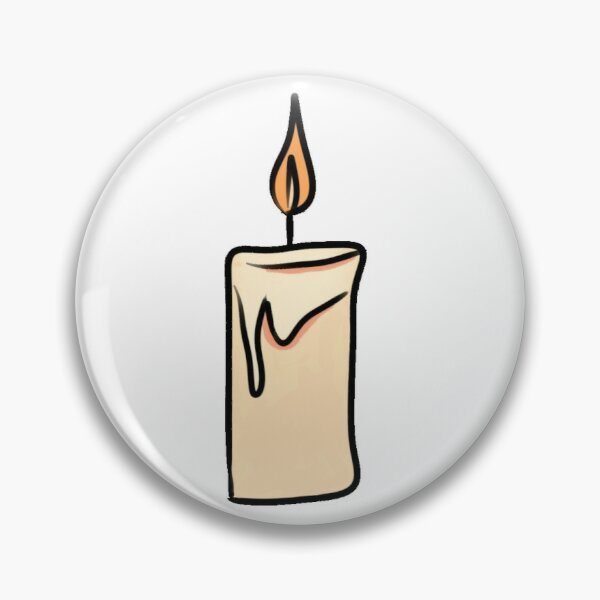 Burning Candle Graphic Illustration Pin