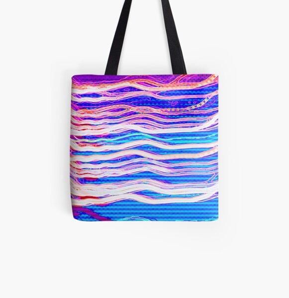 80's Surf Chillwave All Over Print Tote Bag