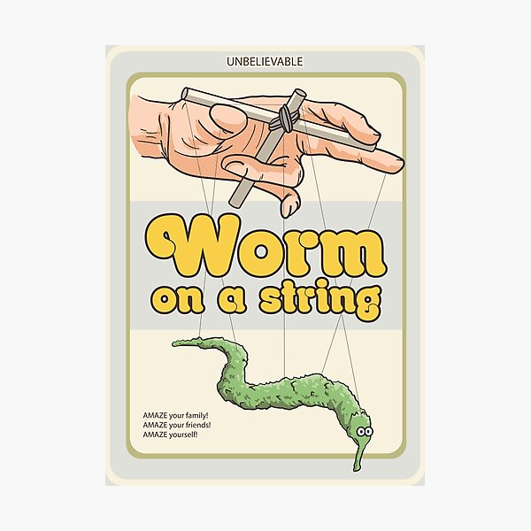 Worm on a string Photographic Print