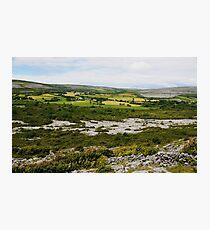 Farmlands of the Burren County Clare Ireland Photographic Print