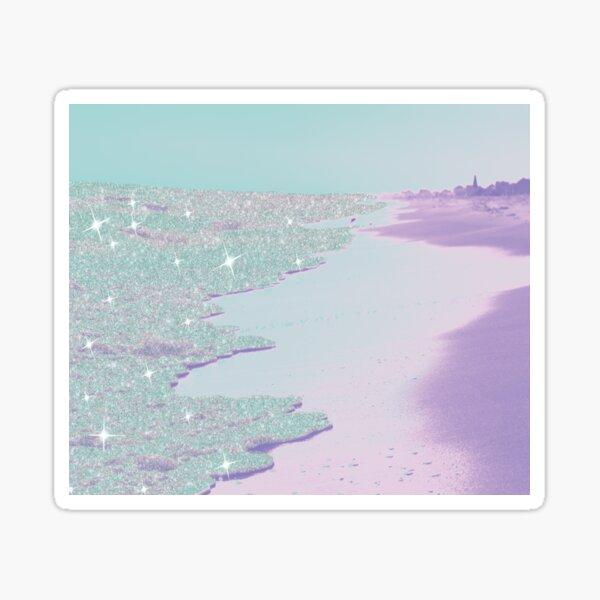fantasy dream glitter beach ocean purple Sticker