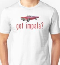 "Chevy Impala Convertible ""got impala?"" T-Shirt or Hoodie Unisex T-Shirt"
