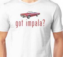 "Chevy Impala Convertible ""got impala?"" T-Shirt or Hoodie Unisex T-Shirt"