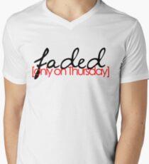 Faded on Thursday Men's V-Neck T-Shirt
