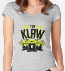 Die Klaw-Geschichte Tailliertes Rundhals-Shirt