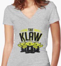 Die Klaw-Geschichte Shirt mit V-Ausschnitt