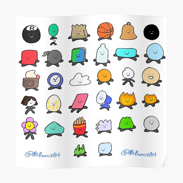 Bfdi All Contestants Pack Part 1 Poster