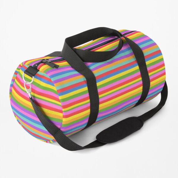 Rainbow Stripes Bright Pastel Stripes Pattern Duffle Bag
