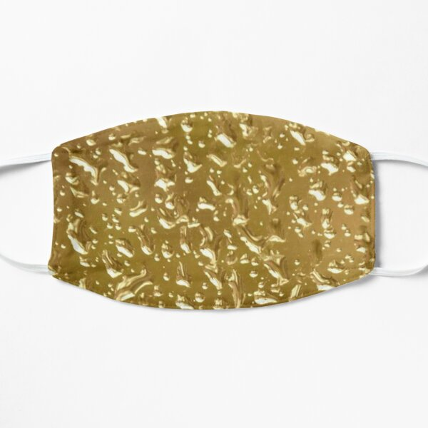 Golden Water Droplets Flat Mask