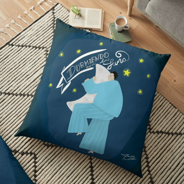 Sleeping with the moon Floor Pillow