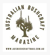 Australian Bushcraft Magazine Logo - olive drab Photographic Print