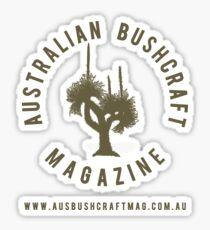 Australian Bushcraft Magazine Logo - olive drab Sticker
