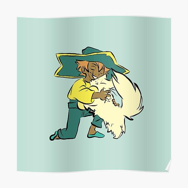 Spiritfarer Hug - Stella and Daffodil Poster