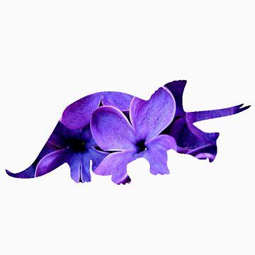 Flower Triceratops by jordanturnip