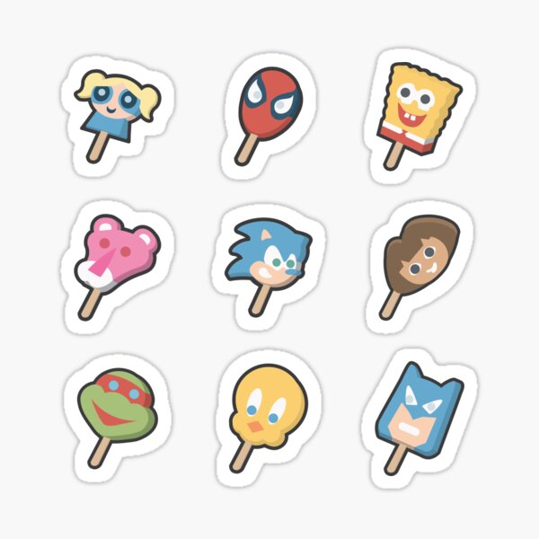 Character Ice Cream Bars Sticker