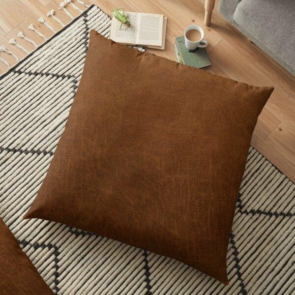 leather textured Floor Pillow