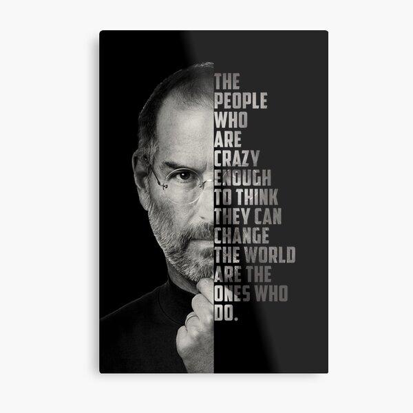 Motivation Poster Quote Steve Jobs Metal Print