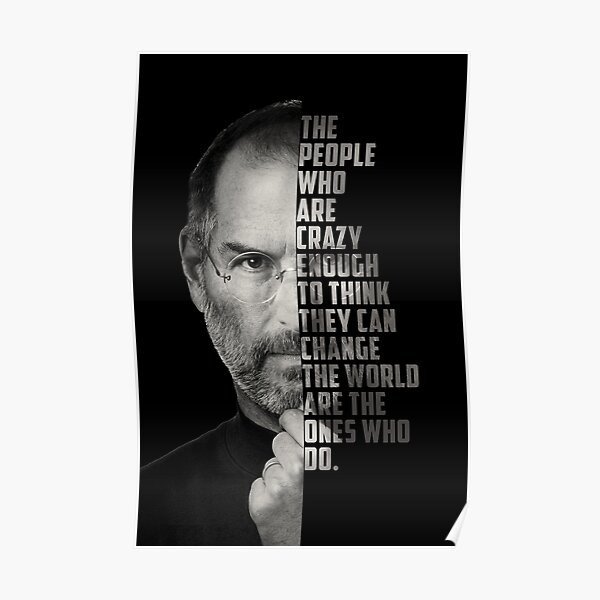 Motivation Poster Quote Steve Jobs Poster