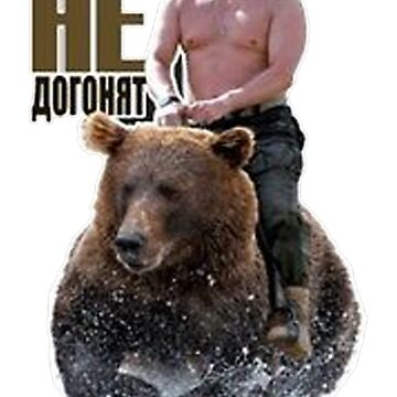 PUTIN riding a bear by ajeung