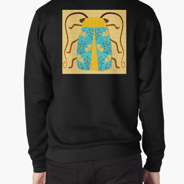 Teal and Gold Beetle Pullover Sweatshirt
