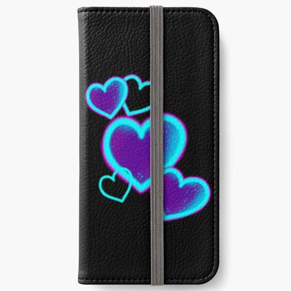 Neon Hearts iPhone Wallet