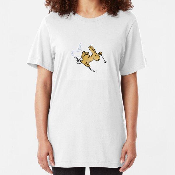 Schneekaninchen Slim Fit T-Shirt